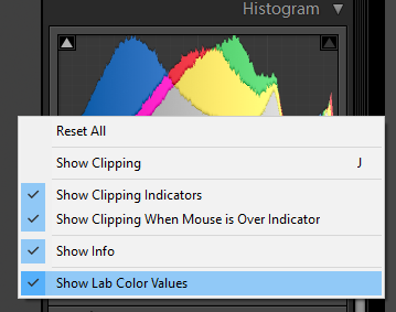 Lightroom Lab color